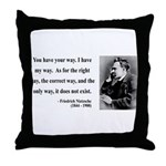 Nietzsche 1 Throw Pillow