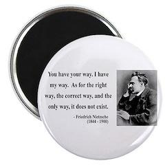 """Nietzsche 1 2.25"""" Magnet (100 pack)"""