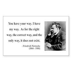 Nietzsche 1 Rectangle Decal