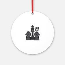 Check Mate Ornament (Round)