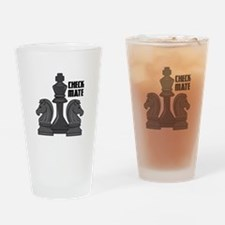 Check Mate Drinking Glass