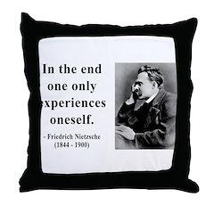 Nietzsche 2 Throw Pillow
