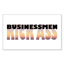 Businessmen Kick Ass Rectangle Decal