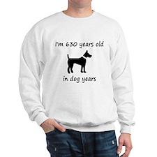 90 dog years black dog 1 Sweatshirt