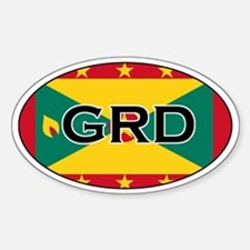 Grenada Flag Oval Decal