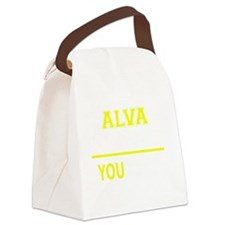 Funny Alva Canvas Lunch Bag