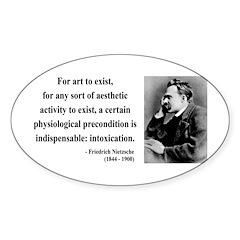 Nietzsche 25 Oval Sticker