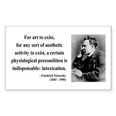 Nietzsche 25 Rectangle Decal