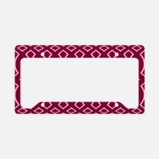 Cranberry Pink Pattern License Plate Holder