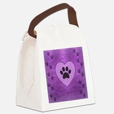 Heart -n- Paw Canvas Lunch Bag