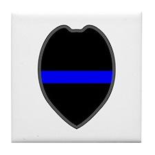 Blue Line Badge 5 Tile Coaster