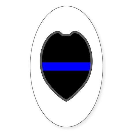 Blue Line Badge 5 Oval Sticker