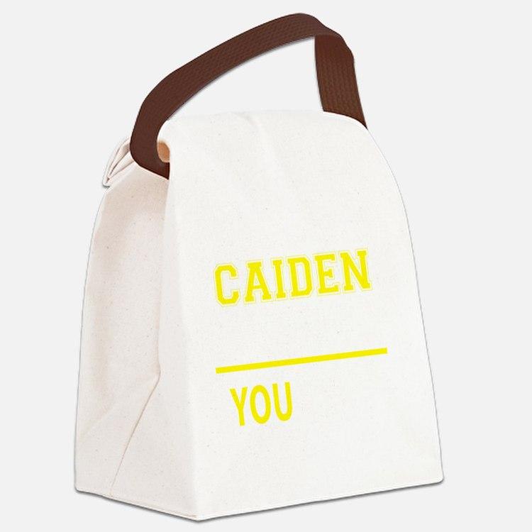 Cute Caiden Canvas Lunch Bag