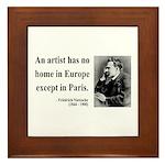 Nietzsche 23 Framed Tile