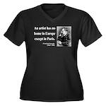 Nietzsche 23 Women's Plus Size V-Neck Dark T-Shirt