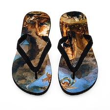 Autumn - Bacchus and Ariadne Flip Flops
