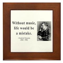 Nietzsche 22 Framed Tile