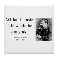 Nietzsche 22 Tile Coaster