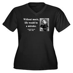 Nietzsche 22 Women's Plus Size V-Neck Dark T-Shirt