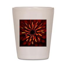 Orange Red Flower Glow Shot Glass