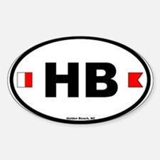 Holden Beach Oval Decal