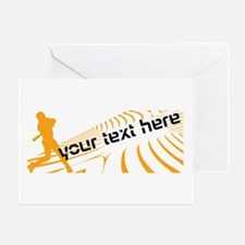 Cool Orange Baseball Greeting Card