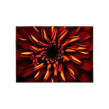 Orange Red Flower Glow 5'x7'Area Rug