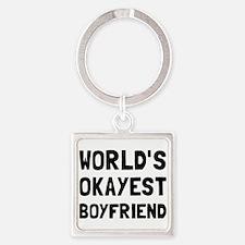 Worlds Okayest Boyfriend Keychains