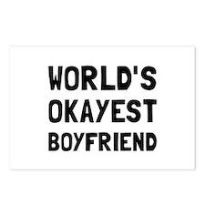 Worlds Okayest Boyfriend Postcards (Package of 8)