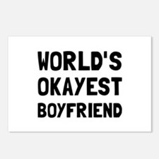Worlds Okayest Boyfriend Postcards (Package of 8)