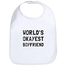 Worlds Okayest Boyfriend Bib