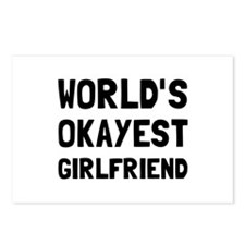 Worlds Okayest Girlfriend Postcards (Package of 8)