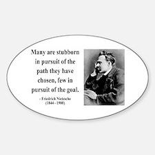 Nietzsche 21 Oval Decal