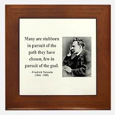 Nietzsche 21 Framed Tile