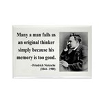 Nietzsche 20 Rectangle Magnet (100 pack)