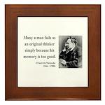 Nietzsche 20 Framed Tile