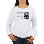 Nietzsche 20 Women's Long Sleeve T-Shirt