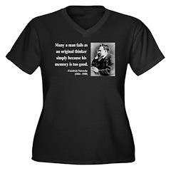 Nietzsche 20 Women's Plus Size V-Neck Dark T-Shirt