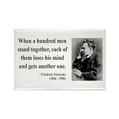 Nietzsche 19 Rectangle Magnet