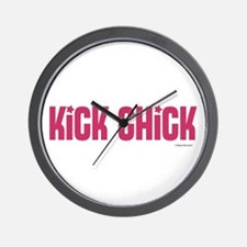 Kick Chick (Raspberry Sorbet) Wall Clock