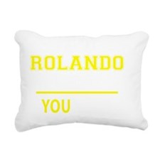 Cute Rolando Rectangular Canvas Pillow