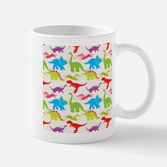 Cool Colorful Kids Dinosaur Pattern Mugs