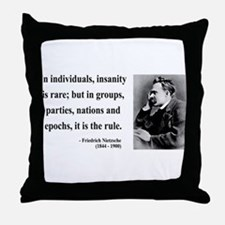 Nietzsche 18 Throw Pillow