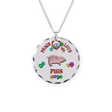 Peace Love Pigs Necklace