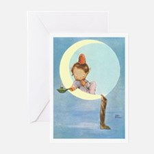 BOY IN THE MOON Greeting Cards (Pk of 10)
