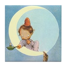 BOY IN THE MOON Tile Coaster