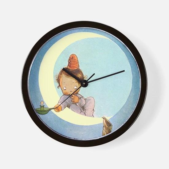 BOY IN THE MOON Wall Clock