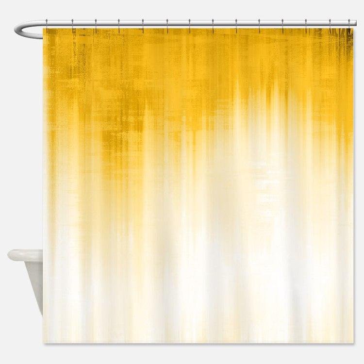 Yellow, Shower Curtain