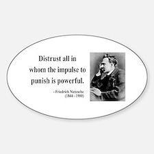 Nietzsche 17 Oval Decal