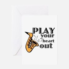 Play Heart Out Greeting Cards